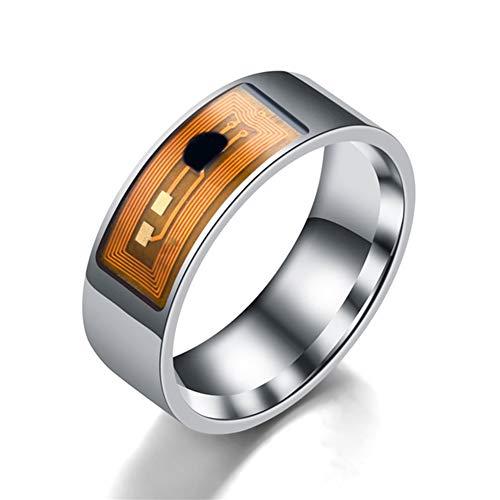 Fay Tragbare NFC Smart Ring, Art Und Weise Ringe U wasserdichte Multifunktions NFC Intelligent Digital Smart-Ring,Clear,6