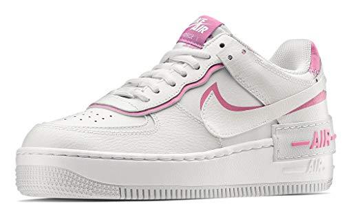 Nike Damen W AF1 Shadow Basketball Shoe, White/White-Magic Flamingo, 39 EU