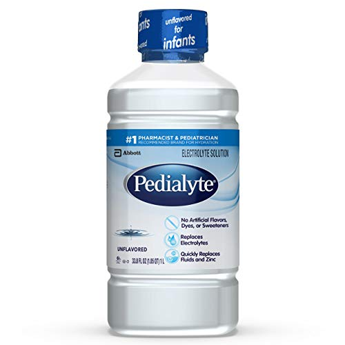 Pedialyte Oral Electrolyte Solution, Unflavored, 1-Liter, 8 Count by Pedialyte