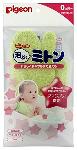 AWABUKUMITON Free Size 1piece infant bath glove (japan import)