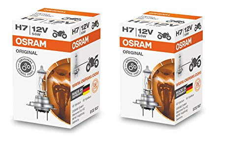 Osram H7 Halogen Headlight Bulbs 64210L 12V 55W Made In Germany 2 Piece Set
