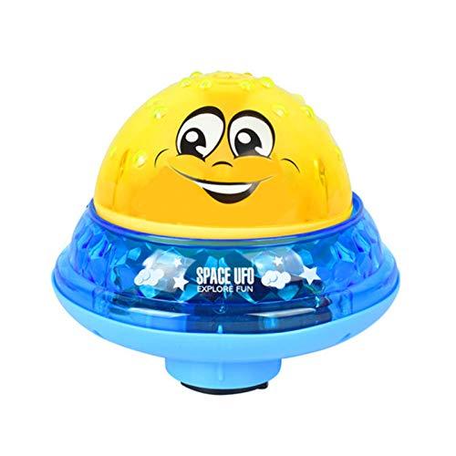 KRISWU Juguete de baño de agua rociando ballena Squirt juguete de luz LED Juguetes de baño bañera ducha piscina baño juguete para bebé