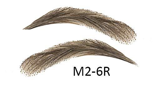 Künstliche, semi-permanente Augenbrauen aus 100% Echthaar zum Aufkleben - handgemacht, M2-6R grey