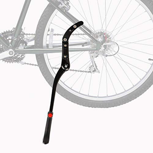 Herefun Pata de Cabra para Bicicleta, Caballete Lateral Ajustable con Pie de Goma Antideslizante, Universal Aluminio Caballetes para Bicicletas para 24'- 29' MTB, Bicicleta de Carretera (A)