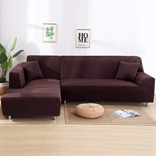 SearchI Sofaüberwürfe Sofaschoner 2er Set 3 Sitzer + 3 Sitzer Elastische Stretch Sofabezug für L-Form Sofa Abdeckung Antirutsch Sofahusse