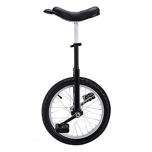 """HWLL Einräder 16/18 Zoll Kinder Einrad, Ergonomisches Sattel Single Wheel Balance Bike, zum Jonglieren/Unterhalten Von Outdoor-Sportarten (Color : Black, Size : 18\"""")"""