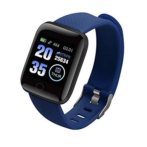 D-Rings Smartwatch Smart Watch Smart Wristband Sports Smart Bracelet Health Fitness Waterproof Smart Watch mit Blutdruckmessung Sports Herren Damen Fitness Sportuhr Schrittzähler (A2)