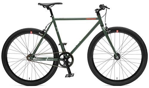 Retrospec Bicycles Mantra V2 Fixed Gear Bicycle with Sealed Bearing Hubs, Hunter Green, 61cm/X-Large