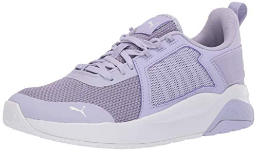 PUMA Anzarun Sneaker, Purple Heather-Raindrops-Puma White, 5.5 M US