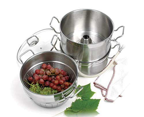 Stainless steel steamer/juicer by Norpro