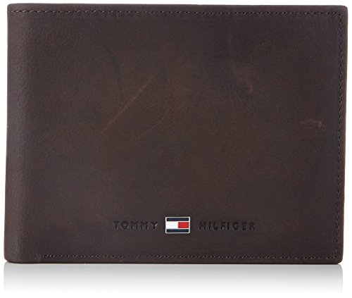 Tommy Hilfiger Herren JOHNSON CC AND COIN POCKET Geldbörsen, Braun (BROWN 204), 13x10x2 cm
