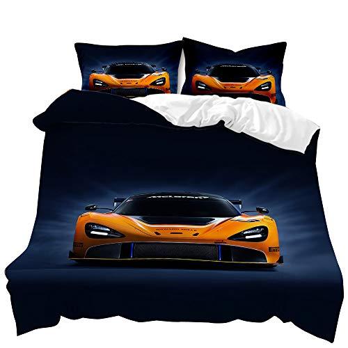 SK-YBB Juego de ropa de cama con funda de edredón y funda de almohada, 100% microfibra y impresión 3D (A4,200 x 200 cm + 50 x 75 cm)