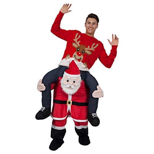 Mens Leprechaun Ride On Me Mascot Fancy Dress Carry Costume Piggy Back Outfit
