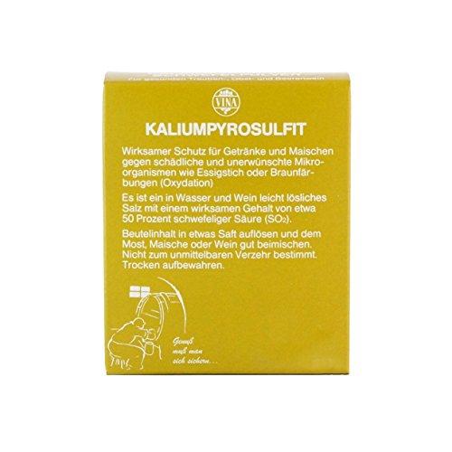 Vina Kaliumpyrosulfit 10x10 Gramm, Kaliumdisulfit, Schwefelpulver