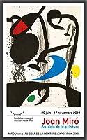 ポスター ジョアン ミロ Au-Dela de La Peinture 2019 額装品 ウッドベーシックフレーム(ブラック)