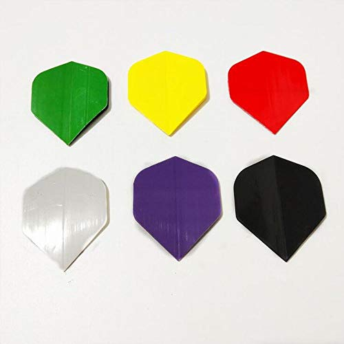 EPRHAN 30 Stück Standard-Dart-Flights, verschiedene Formen, Dart-Flights und Zubehör, Dart-Zubehör-Set, einfarbig.