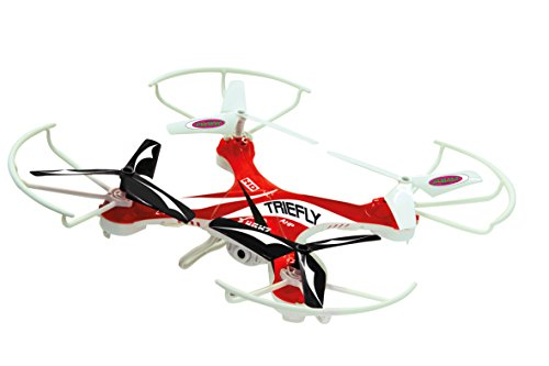 Triefly AHP 2,4 GHz Turbo 4-Kanal Quadrocopter mit HD Kamera, Videofunktion und Schnellwechsel-Akku