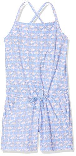 Schiesser Mädchen Jumpsuit Einteiliger Schlafanzug, Blau (Hellblau 805), 176 (Herstellergröße: L)