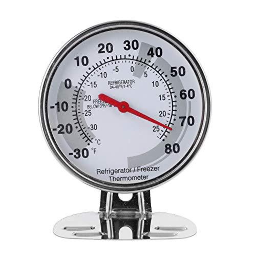 GUMEI Frigorífico Congelador Frigorífico Termómetro Dial de Acero Inoxidable -30~80 Fahrenheit