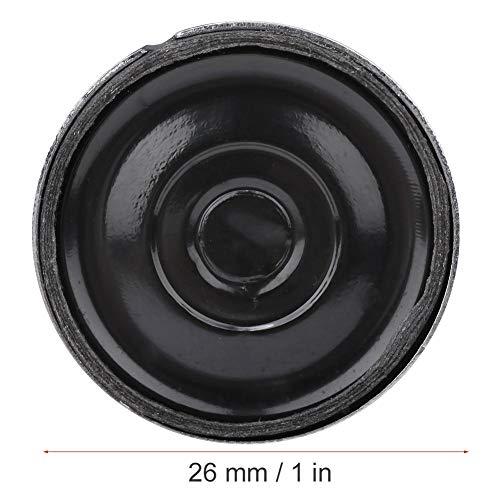 Altavoz redondo 1W 8Ω Diámetro 26mm Carcasa metálica Altavoz interno redondo Magent Compatible con imán Nd-Fe-B 10 piezas(p26-8-1w)