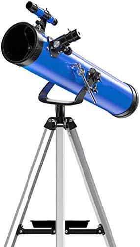 SEESEE.U Tragbares Anfänger-Astronomie-Teleskop für Kinder und Erwachsene mit verstellbarem Stativ, Ganzmetallhalterung, 114 mm großem Durchmesser, Reise-Astronomie-Teleskop (Farbe, Paket 1), Paket 6
