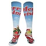 Calcetines para niños, camioneta con adorno para el frío de diciembre, copos de nieve, Navidad, calcetines para mujeres y hombres, lo mejor para correr, atletismo, senderismo, viajes, vuelo