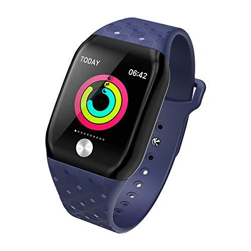 XXxx Smart horloge IP68 waterdicht/fitness activiteit tracker met hartslag monitor draagbare slimme armband slaap monitoring stappenteller kijken mannen en vrouwen kinderen,Blauw