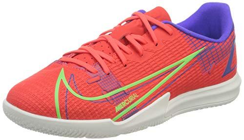 Nike JR Vapor 14 Academy IC, Scarpe da Calcio, BRT Crimson/Mtlc Silver-Indigo Burst-White-Rage Green, 38 EU