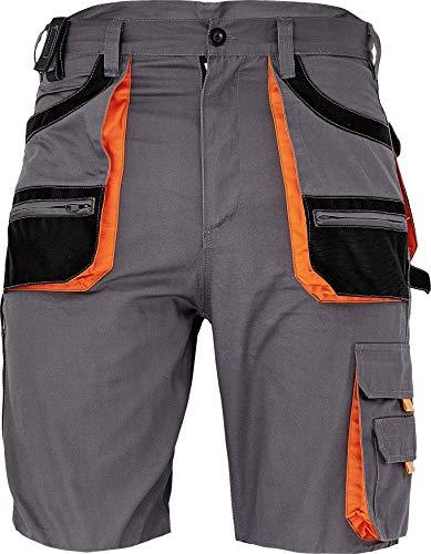 DINOZAVR des-Emerton Bermuda da Lavoro Uomo - Pantaloni Corti Cargo Pantaloncini Estivi con Tasche Multifunzione - Grigio 48