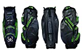 STA-DRY 100% Waterproof Golf Cart Bag Ultralightweight Graphite Grey and Lime