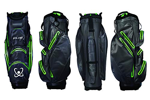 Photo of STA-DRY 100% Waterproof Golf Cart Bag Ultralightweight Graphite Grey and Lime