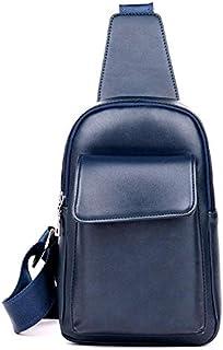 Men Shoulder Bag Messenger Bag Tide Retro Purse Sports Bag Diagonal Bag(Blue)