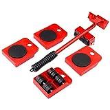 Juego de 5 herramientas de transporte para muebles, 4 ruedas de mover, set de herramientas manuales (llegada dentro de 10 días)