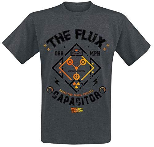 Zurück in die Zukunft Flux Kompensator Männer T-Shirt grau meliert S