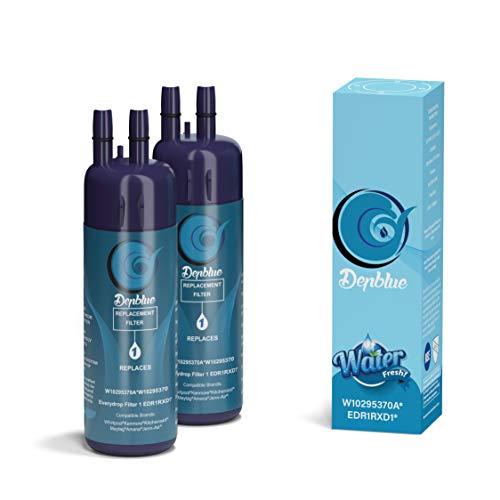 Tetovit W10295370A EDR1RXD1 Water Filter Cap Replacement for W10295370, Filter 1, P8RFWB2L, P4RFWB, Kenmore 9930, Kenmore 46-9081 2PACKS