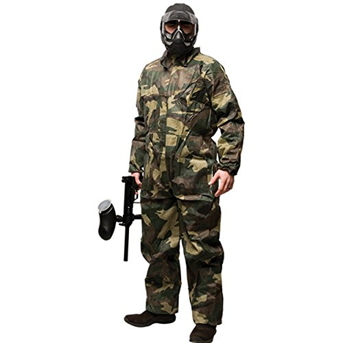 GI Sportz Disposable Paintball Coveralls/Jumpsuit - Camo - Medium