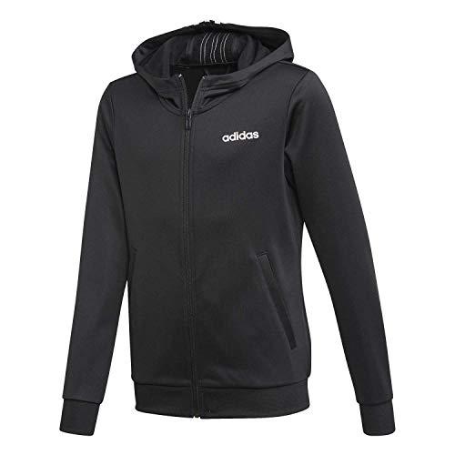 adidas Performance Cardio 128 - Chaqueta con capucha para niño, color negro