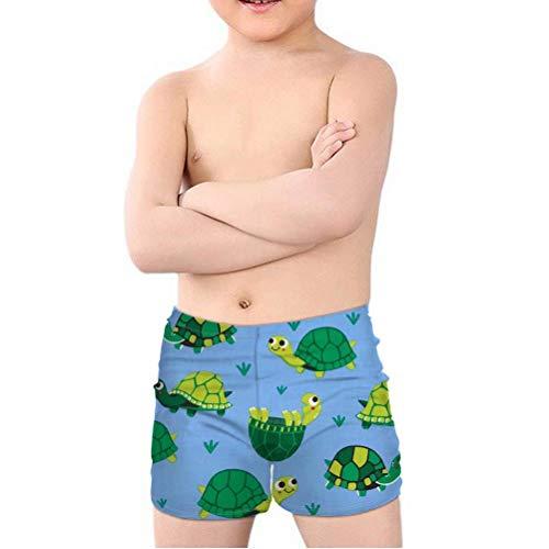 chaqlin Jungen Kinder Badeshorts leicht Outdoor Urlaub Sport Schwimmen Surfen Pants für Kinder Kinder Kinder Kinder Boardshorts für Alter 5–14 Jahre Gr. Taille 65/67 cm(11-12 Jahre), Schildkröte 2