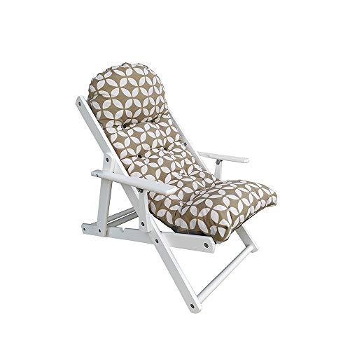 Fauteuil Relax, inclinable en 3 Positions, Cadre de Jardin Blanc Coussin de transat Super rembourré de Haute qualité (Fantaisie)