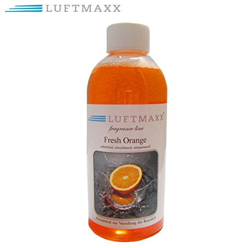 LUFTMAXX Fragrance line Fresh Orange Duftstoff für Lufterfrischer Water Air Fresherner Duft Raumklima Ball