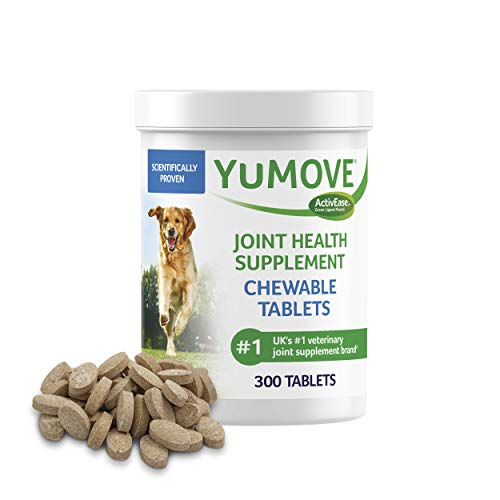 Dog Joint Supplement, Hip and Joint Supplement for Dogs with Glucosamine, Hyaluronic Acid, and Green Lipped Mussel and Omegas, Relief for Dog Hip and Joint Aches, by YuMOVE - 300 Chewable Tablets