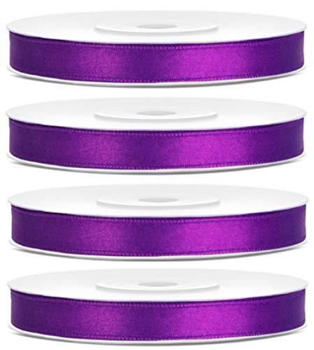 100 Meter Satinband Lila Breite 6mm Schleifenband Satin Dekoband Geschenkband für Geschenke Geschenkverpackung, Hochzeitsgeschenk Lila