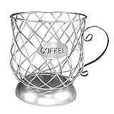 lujiaoshout Café Pod Holder Copa K Cesta del almacenaje de la Taza de café en Forma de cápsula Organizador del envase para Counter Barra de Plata, Cajas de Joyas