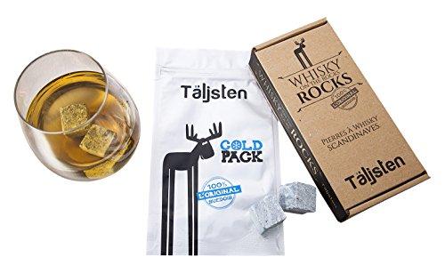 Täljsten Rocks natuurstenen uit Zweden, voor het koelen van whisky, ron, brandy