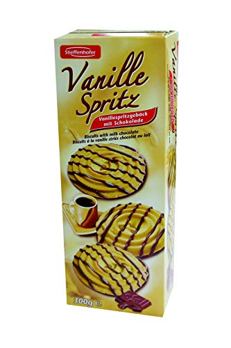 Stieffenhofer Vanille Spritz Spritzgebäck Vanille mit Schokolade, 300 g