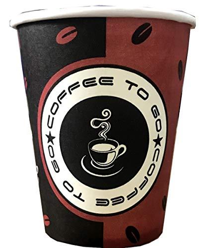 TRENDSKY BIOLOGISCH ABBAUBAR 1000x Kaffeebecher Coffee to go Pappe beschichtet 200 ml, Becher für Kaffee/Tee,Hartpapier Einweg Pappbecher Coffeebecher 0,2l