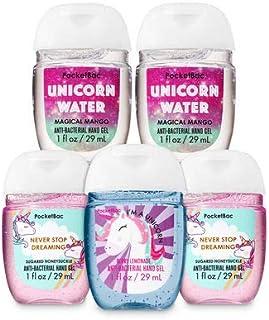 【Bath&Body Works/バス&ボディワークス】 抗菌ハンドジェル 5個セット ユニコーン&レインボー Unicorn & Rainbow ハニーサックル マンゴー レモネード PocketBac Hand Sanitizer Bundle (5-pack) [並行輸入品]