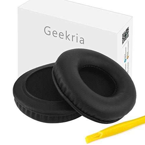 Geekria Sport-Ohrpolster aus Protein-Leder für Skull.candy Hesh, Hesh 2, Hesh2 Bluetooth kabellose Kopfhörer, Ersatz-Ohrpolster, Ohrmuscheln, Reparaturteile (schwarz)
