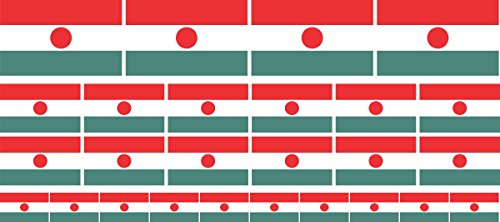 Mini Aufkleber Set - Pack glatt - 4x 51x31mm+ 12x 33x20mm + 10x 20x12mm- Sticker - Niger - Flagge - Banner - Standarte fürs Auto, Büro, zu Hause & die Schule - Set of 26