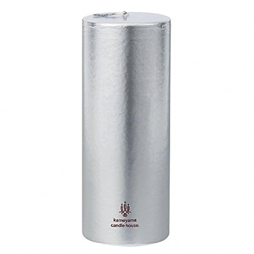 ミリメートル長さ暖炉カメヤマキャンドル(kameyama candle) メタリックピラー2×5 「 シルバー 」